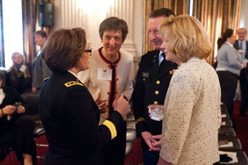 LTG Patty Hororo, COL Janet Southby, RET, COL Richard Southby, RET, & COL Jane Hudak, RET