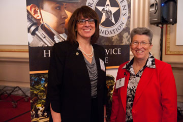 CSM Cindy Pritchett, RET and Maureen Casey, Executive Director, JPMorgan Chase