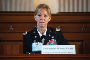 CW5 Phyllis Wilson, Command Chief Warrant Officer of the Army Reserve